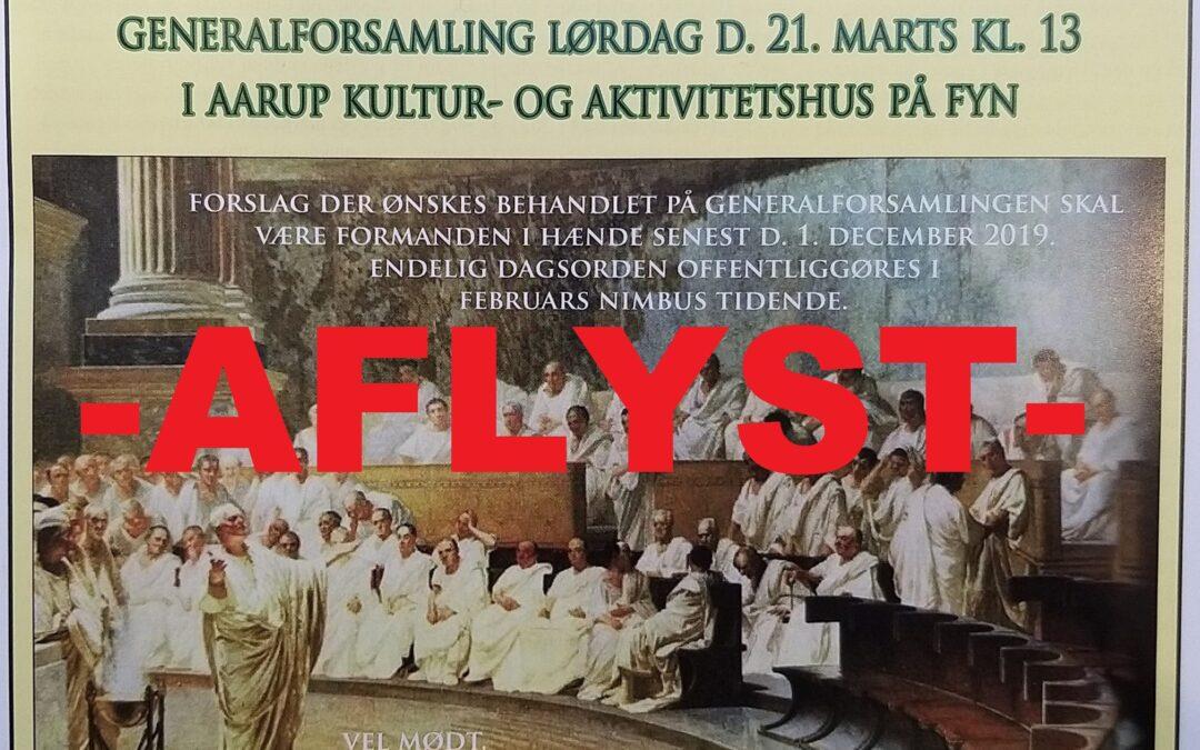 –AFLYST– Generalforsamling